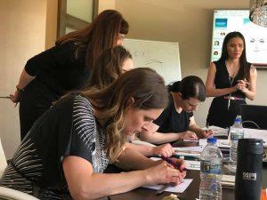 Học viên luyện tập thực hành tại cơ sở đào tạo bên Mỹ